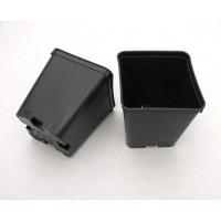 Квадратна пластмасова твърда саксия 8x8x9cm