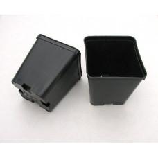 Квадратна пластмасова твърда саксия 10x10x11cm