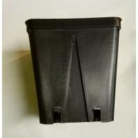 Квадратна пластмасова твърда саксия 12x12x13cm