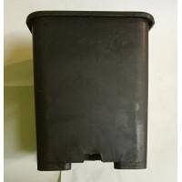 Квадратна пластмасова твърда саксия 22x22x26cm