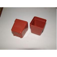Квадратна пластмасова твърда саксия 5x5x5cm