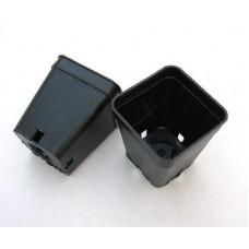 Квадратна пластмасова твърда саксия 5x5x6cm