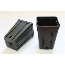 Квадратна пластмасова твърда саксия 9x9x13cm